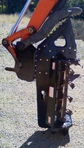 3 foot Brush Fox Flail mower attached to excavator